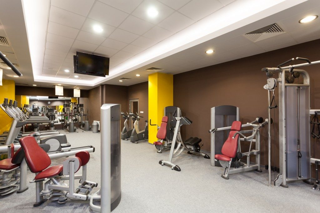 Contemporary gym interior with a special equipment