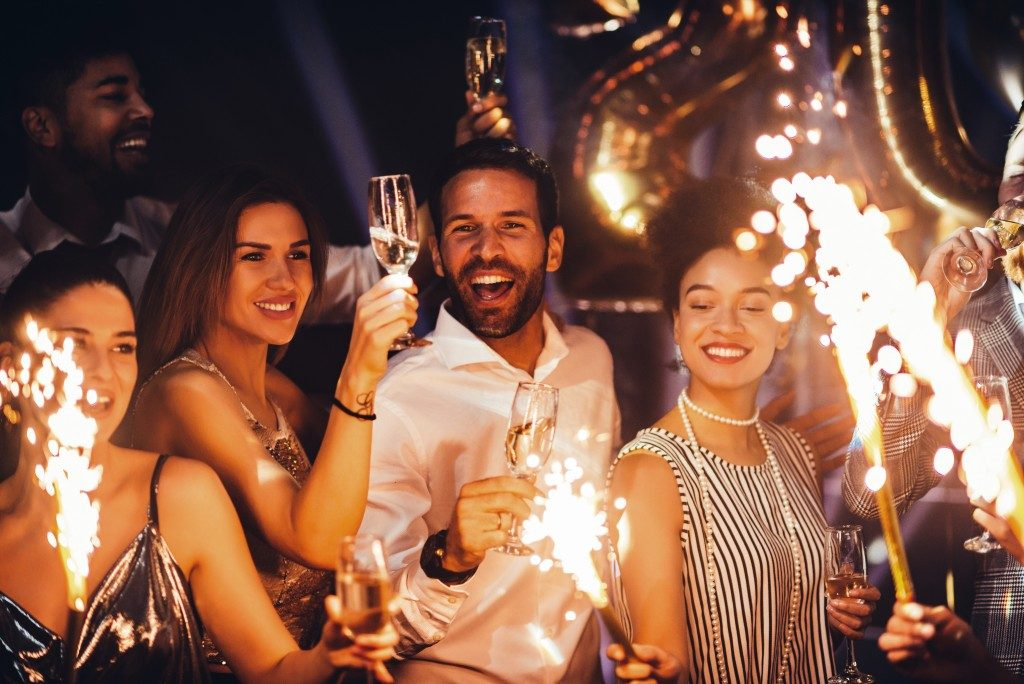 People celebrating at a party