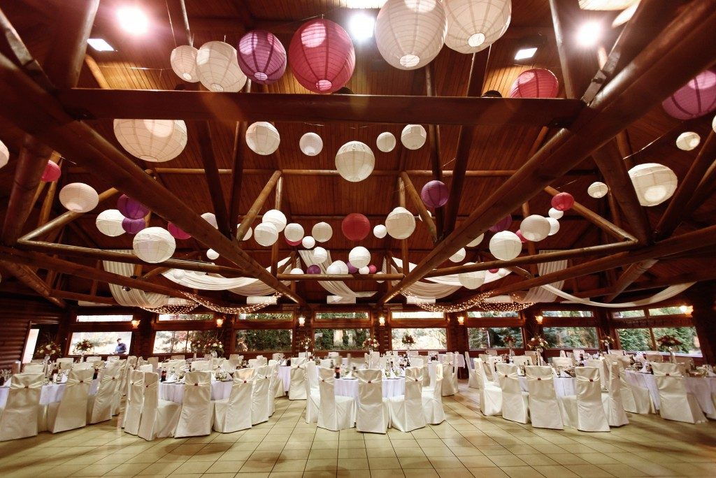 Wedding reception in an events place