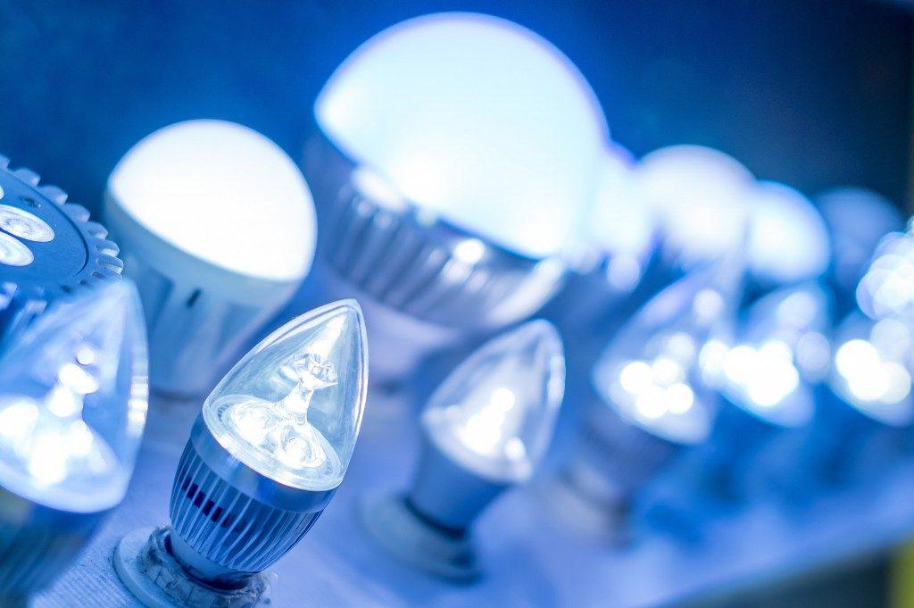 Blue led light bulbs