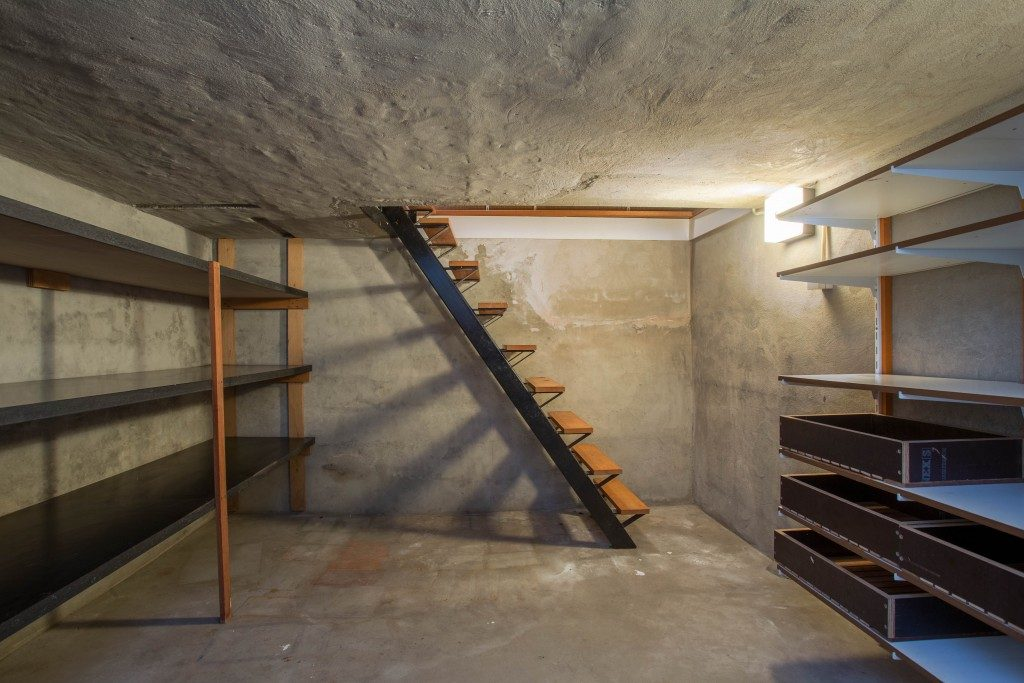 empty basement in a house