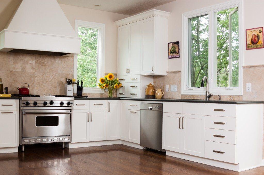 wide space modern kitchen