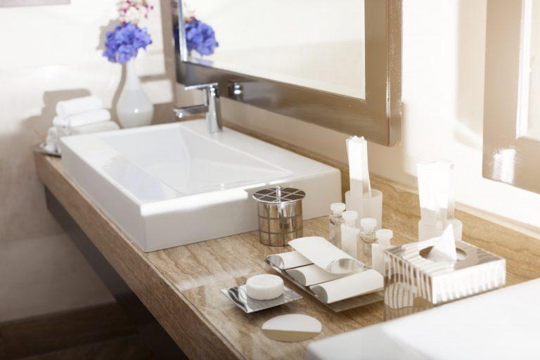 bathroom sink and essentials