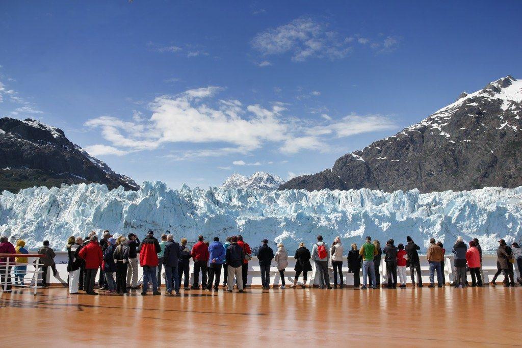 passengers watching Margerie Glacier, Alaska, USA
