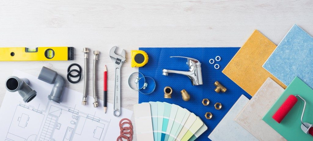 tools and materials for home project