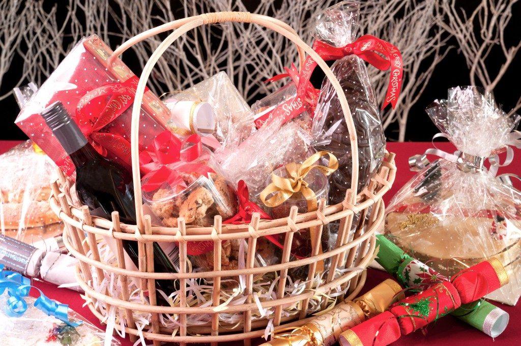 Christmas hamper basket
