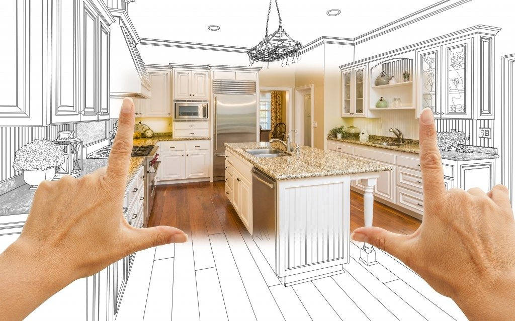 person trying to picture the kitchen renovation