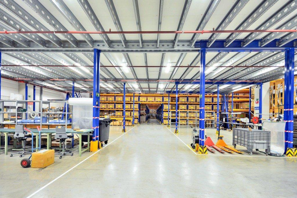 huge warehouse interior