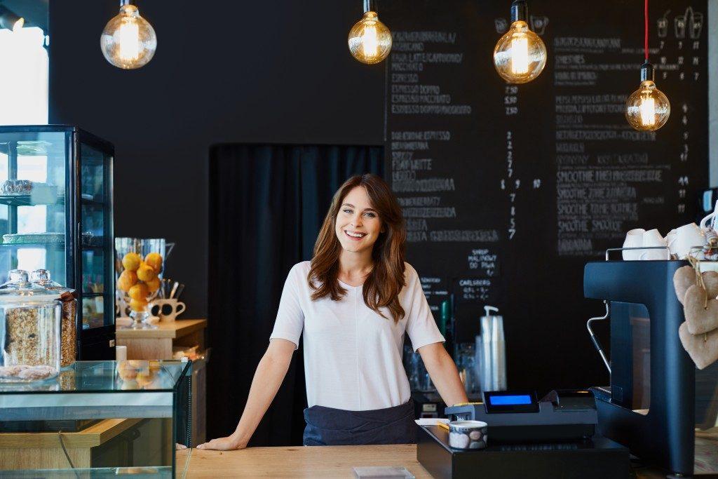 Cafe owner behind bar