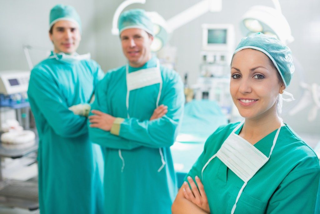 a group of surgeons