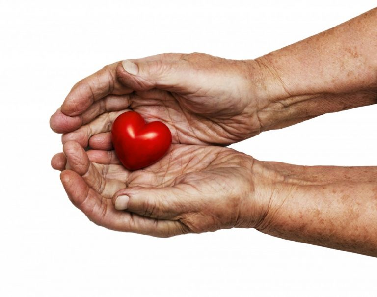 Holding a small heart