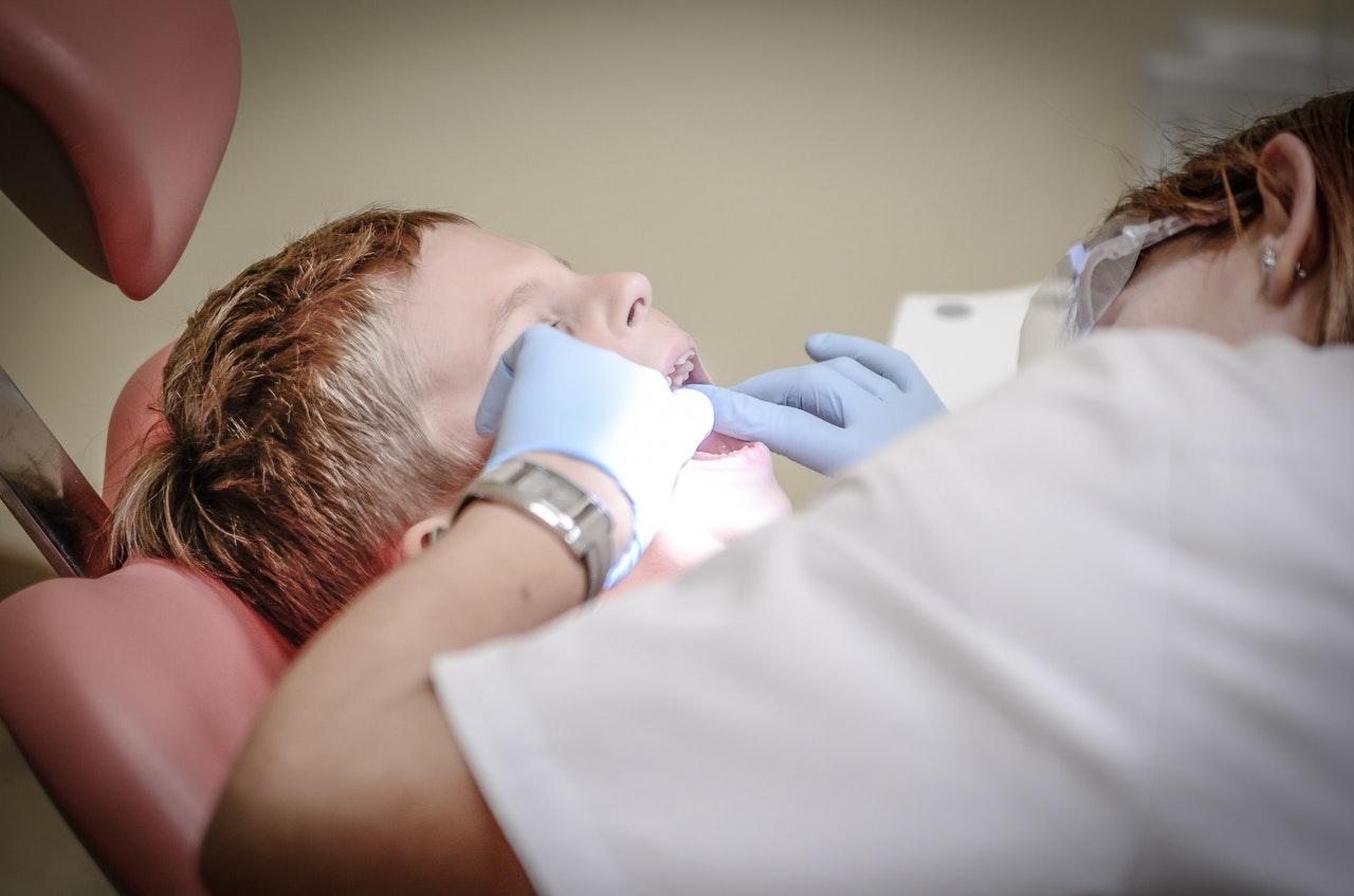 dentist checking