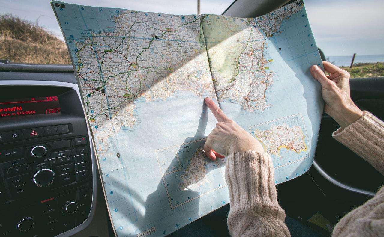 navigating through a map