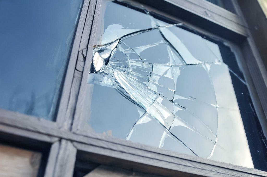 broken window glass